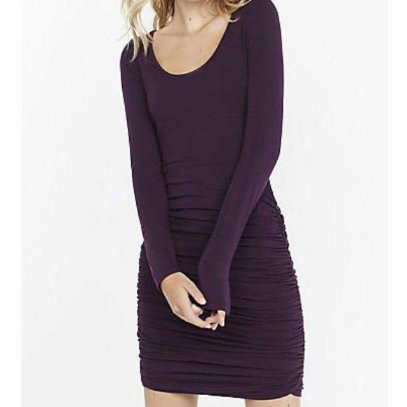 Express Dresses & Skirts - Women's Express Long Sleeve Ruched Dress Size XS